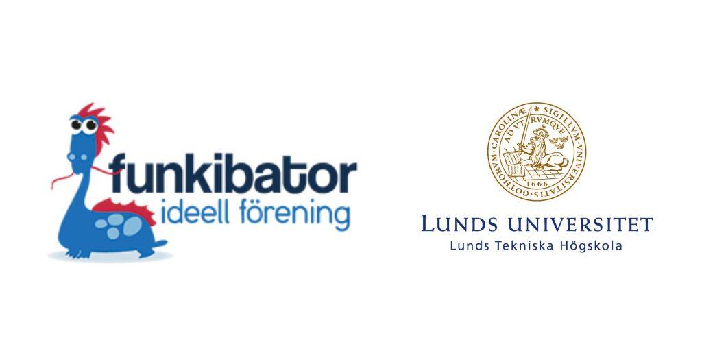 Logotyper Funkibator och Lunds Universitet